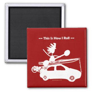 ¡Kajak en el coche - éste es cómo ruedo! Imán Para Frigorifico