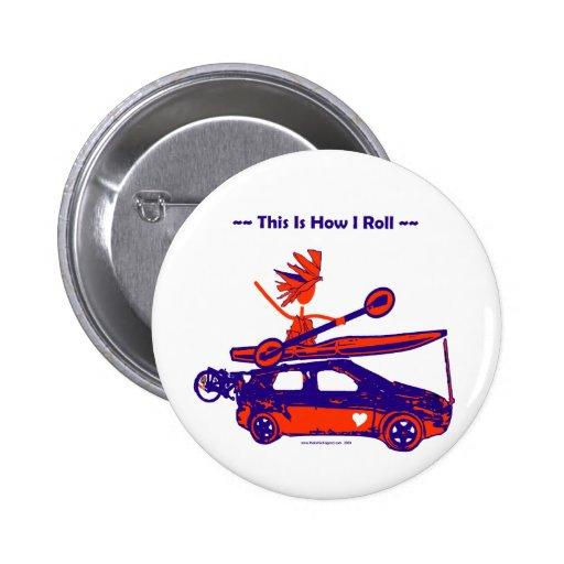 ¡Kajak en el coche - éste es cómo ruedo! Pins