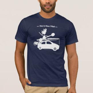 ¡Kajak en el coche - éste es cómo ruedo! Playera