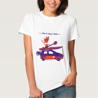 ¡Kajak en el coche - éste es cómo ruedo! Remeras