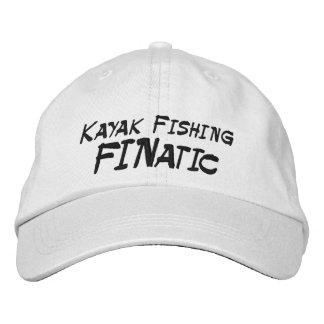 Kajak que pesca al fanático gorra de beisbol