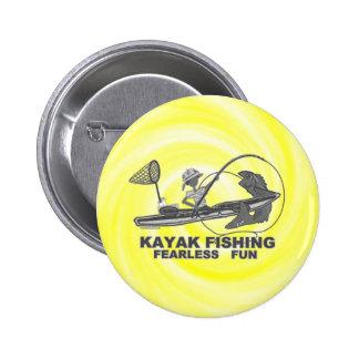 Kajak que pesca banal negro y blanco