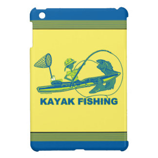 Kajak que pesca la silueta del verde azul