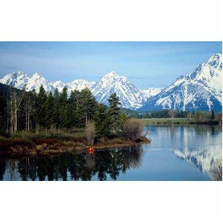 Kajak rojo, parque nacional magnífico de Teton, Fotoescultura Vertical