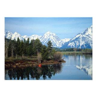 Kajak rojo parque nacional magnífico de Teton lo Comunicado