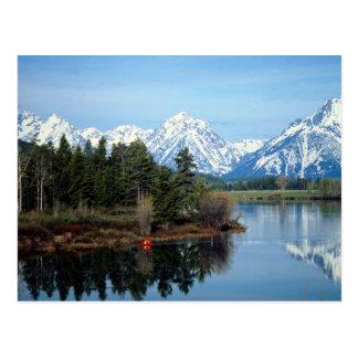 Kajak rojo, parque nacional magnífico de Teton, lo Tarjeta Postal