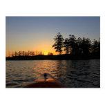 Kajak Royalston mA de la puesta del sol del lago T Postales