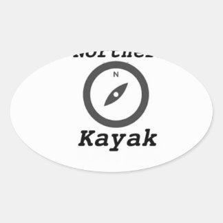 kajak septentrional copy.jpg calcomanía oval personalizadas