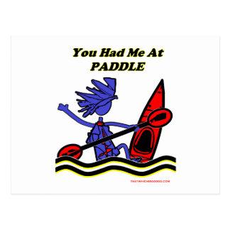 Kajak: Usted me tenía en la paleta Postales