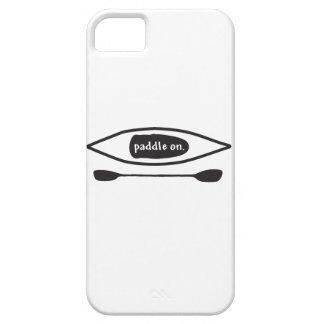 Kajak y paleta, línea negra simple diseño del arte funda para iPhone SE/5/5s