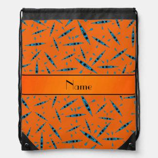 Kajaks anaranjados conocidos personalizados mochilas