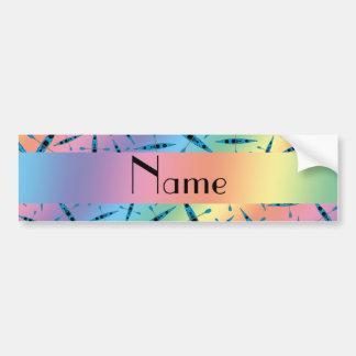 Kajaks conocidos personalizados del arco iris pegatina de parachoque