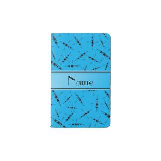 Kajaks conocidos personalizados del azul de cielo funda para libreta y libreta pequeña moleskine