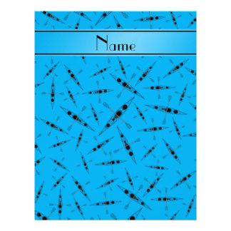 Kajaks conocidos personalizados del azul de cielo membrete a diseño