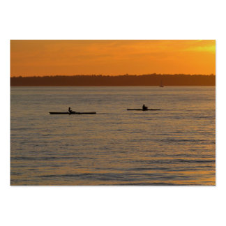 Kajaks del mar tarjetas de visita grandes