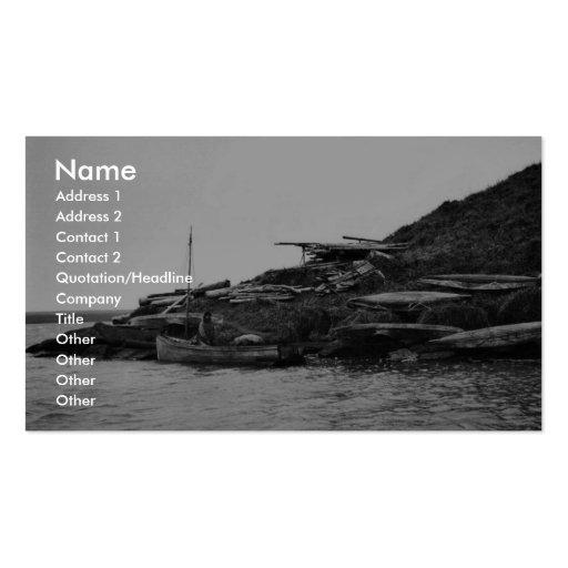 Kajaks en la isla de Nunivak Tarjetas De Visita