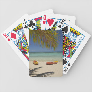 Kajaks en la playa, centro turístico isleño 2 de l baraja cartas de poker