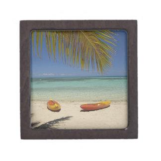 Kajaks en la playa, centro turístico isleño 2 de l cajas de recuerdo de calidad
