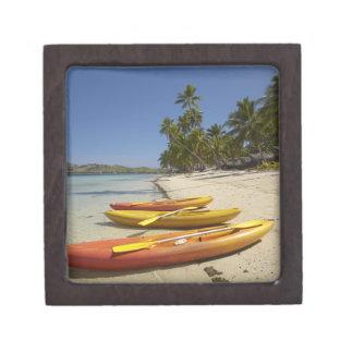 Kajaks en la playa, centro turístico isleño de la  cajas de recuerdo de calidad