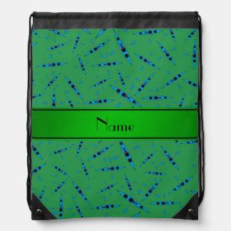 Kajaks verdes conocidos personalizados mochilas