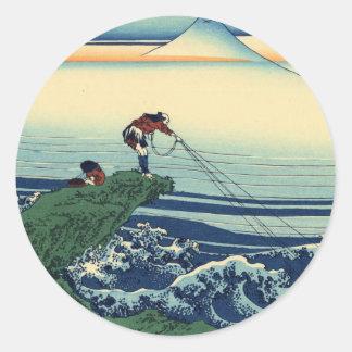 Kajikazawa in Kai Province Classic Round Sticker