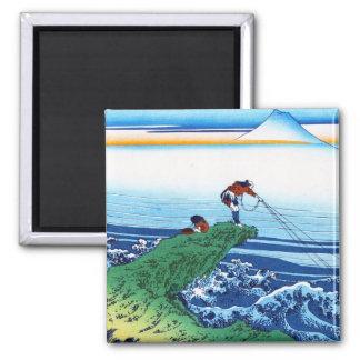 Kajikazawa in Kai province Hokusai Katsushika 2 Inch Square Magnet