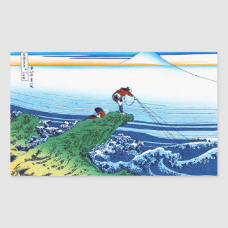 Kajikazawa in Kai province Hokusai Katsushika Rectangular Sticker
