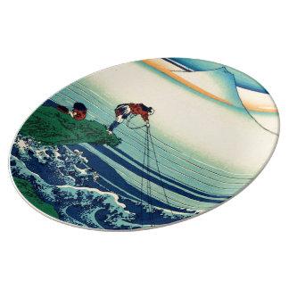 Kajikazawa in Kai Province Porcelain Plates
