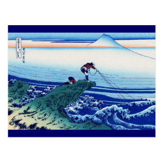 Kajikazawa in Kai Province Vintage Woodcut Postcard