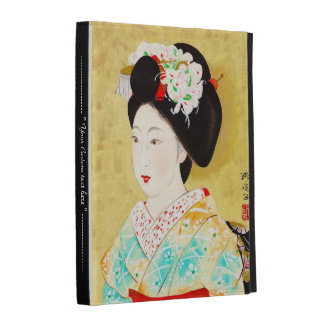 Kajiwara Hisako A Kyoto Maiko geisha fine art iPad Case