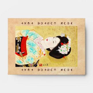 Kajiwara Hisako A Kyoto Maiko geisha fine art Envelopes