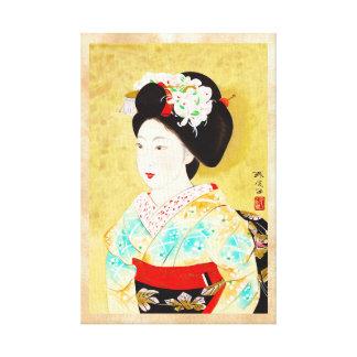 Kajiwara Hisako una bella arte del geisha de Kyoto Impresiones En Lona
