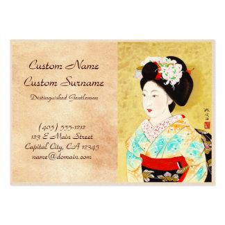 Kajiwara Hisako una bella arte del geisha de Kyoto Tarjetas De Visita Grandes