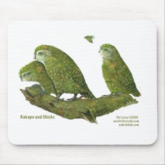 kakapo and chicks mouse pad