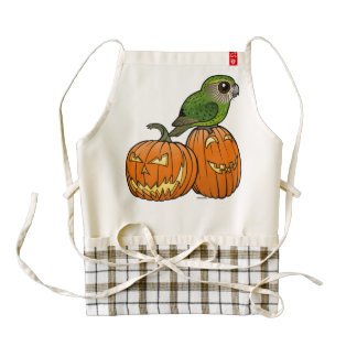 Kakapo Halloween Zazzle HEART Apron