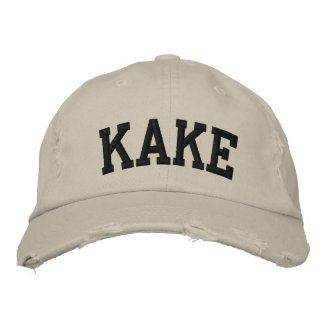 Kake Embroidered Hat Embroidered Baseball Cap