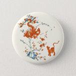 Kakiemon Dragon Tiger 1775 Button at Zazzle
