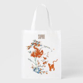 Kakiemon Dragon Tiger 1775 Grocery Bag