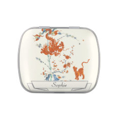 Kakiemon Dragon Tiger 1775 Jelly Belly Tin at Zazzle