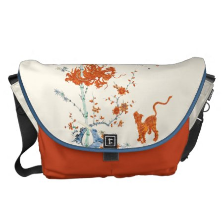 Kakiemon Dragon Tiger 1775 Large Courier Bag