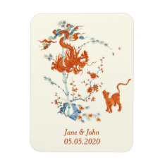 Kakiemon Dragon Tiger 1775 Magnet at Zazzle