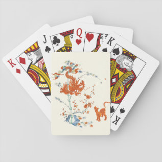 Kakiemon Dragon Tiger 1775 Playing Cards at Zazzle