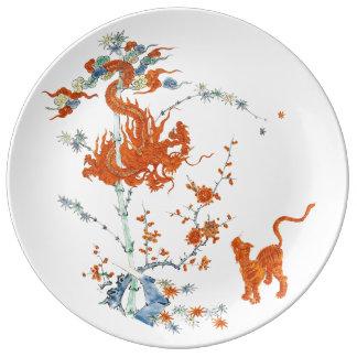Kakiemon Dragon Tiger 1775 Porcelain Plate