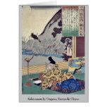 Kakinomoto by Utagawa, Kuniyoshi Ukiyoe Card