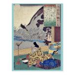 Kakinomoto by Utagawa, Kuniyoshi Ukiyoe Post Card