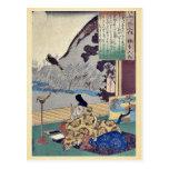 Kakinomoto by Utagawa, Kuniyoshi Ukiyoe Post Cards