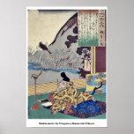 Kakinomoto by Utagawa, Kuniyoshi Ukiyoe Poster