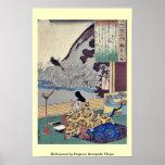 Kakinomoto by Utagawa, Kuniyoshi Ukiyoe Print