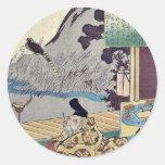 Kakinomoto by Utagawa, Kuniyoshi Ukiyoe Stickers