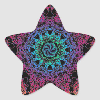 Kala Chakra Mandala Star Sticker